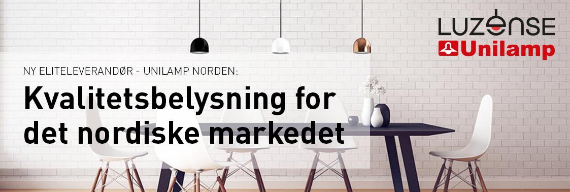 Banner til forsiden – Unilamp Norden
